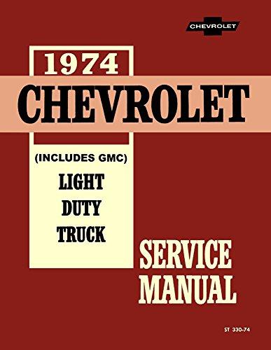 1974 Chevy Gmc C K 10-30 Light Truck Shop Service Repair Engine Drivetrain Oem