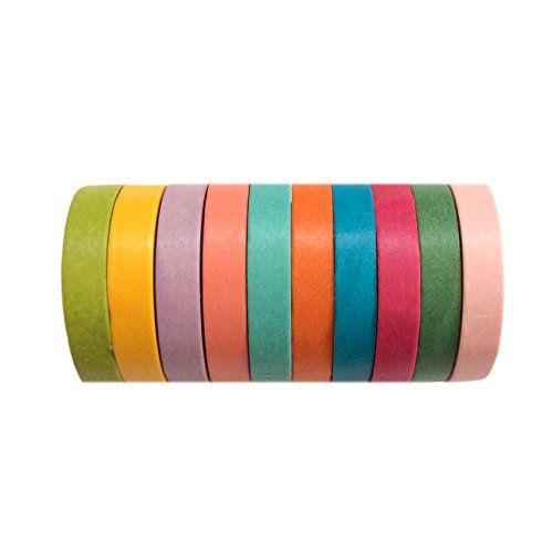 10 X Washi Tape Set Masking Scrapbooking Decorative Paper