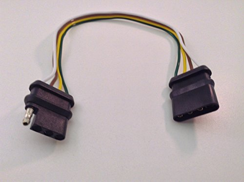 12 Trailer Wire 4 Way Flat Harness Connector Extension