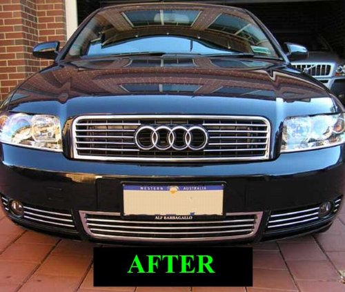 1997-2005 Audi A8 S8 Lower Chrome Grill Grille Kit 1998