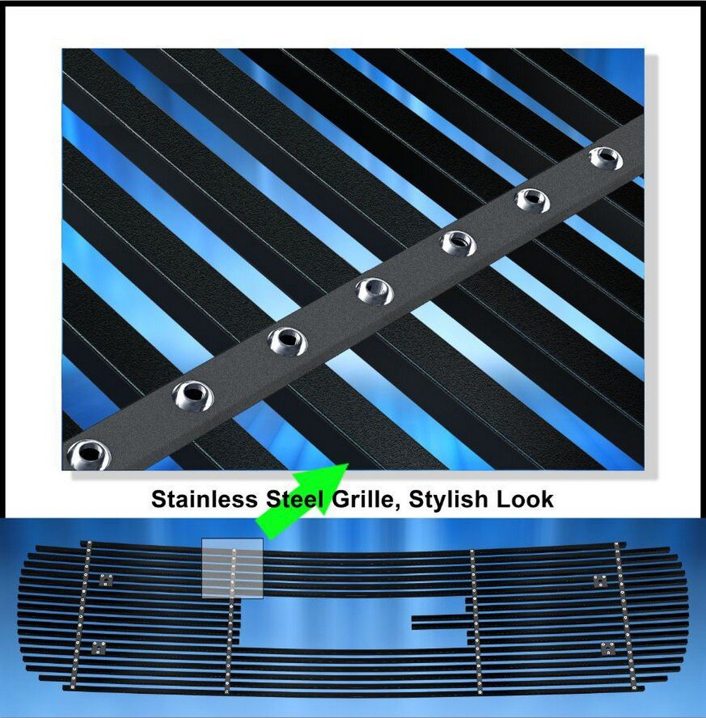 Black Stainless Steel Egrille Billet Grille Grill For 1999