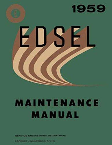 1959 Edsel Corsair Ranger Villager Shop Service Repair Manual Engine Drivetrain