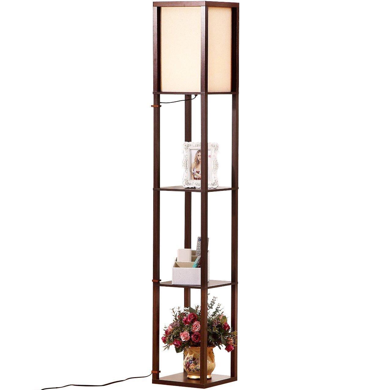 Brightech Maxwell Led Shelf Floor Lamp a Modern Asian ...
