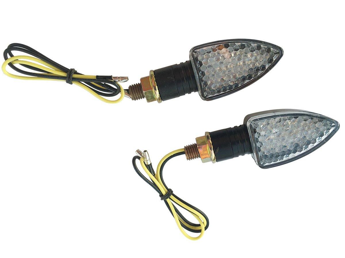 2 X Black Led Turn Signal Lights Indicators Blinkers For