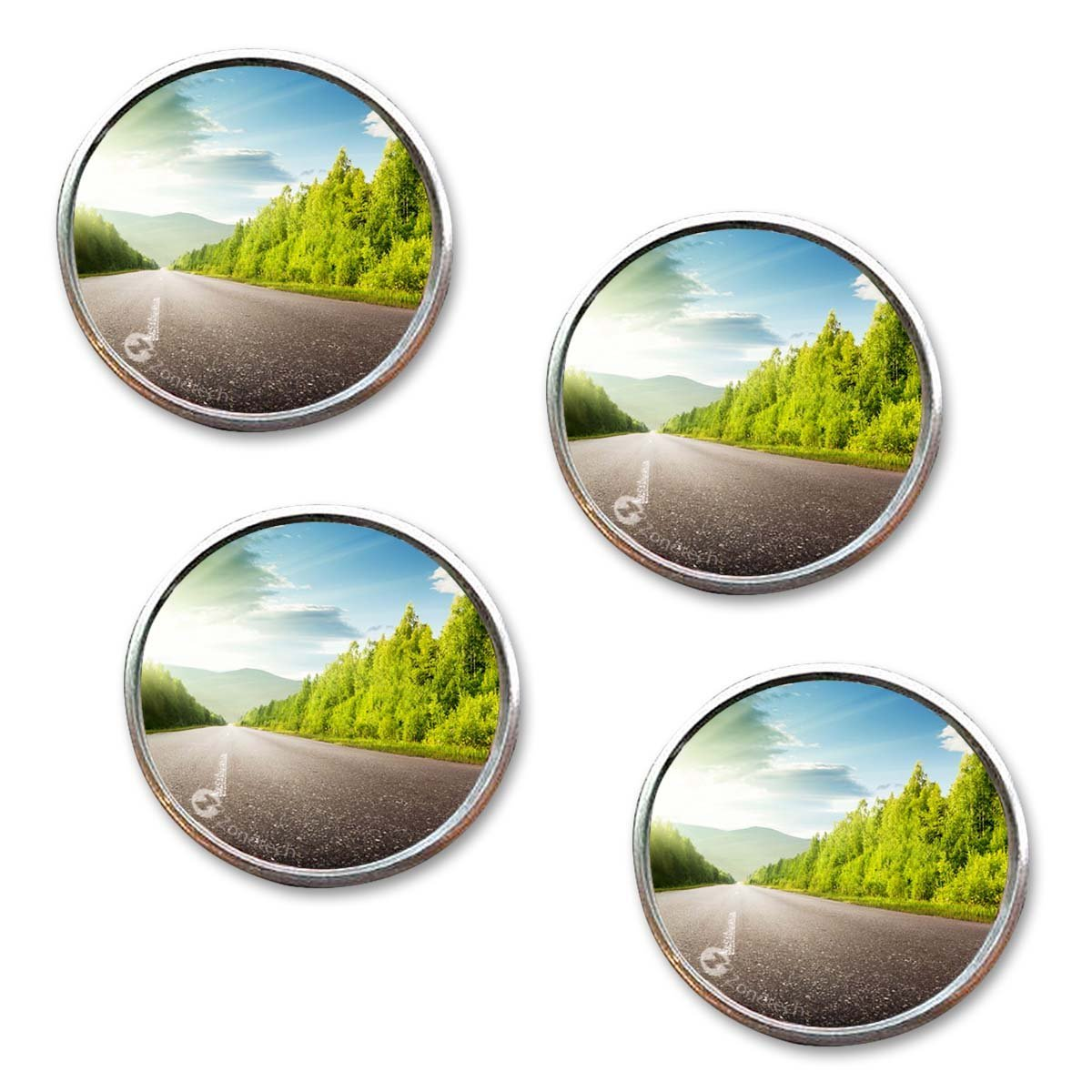 Zone Tech Rearview Blind Sport Mirrors 4 Pack Premium