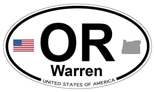 Warren Oregon Oval Sticker