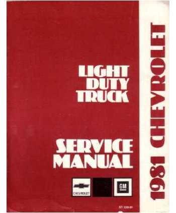 1981 Chevy Gmc C K 10-30 G P Truck Shop Service Repair Manual Engine Drivetrain