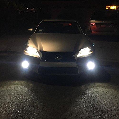Alla Lighting 2pcs Front Fog Light Super Bright 6000k