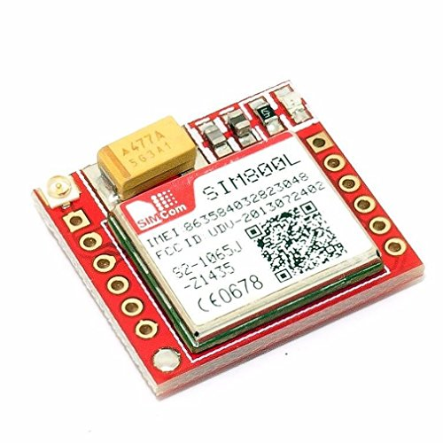 SIM800L Smallest GPRS GSM Breakout Module Quad-Band 850//900//1800//1900MHz SIM Card Slot Onboard with Antenna