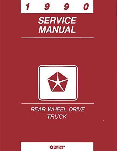 1990 Dodge Ram Truck Ramcharger Shop Service Repair Manual Engine Drivetrain