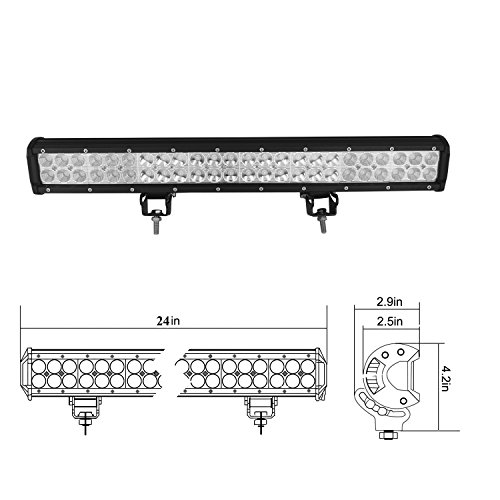 auxtings 22 inch 144w spot flood led work light bar with wiring harness kit 12v 24v for jeep 4wd