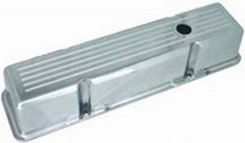Racing Power Company R6130-2 Tall Plain Polished Aluminum Valve Cover for Small Block Chevy