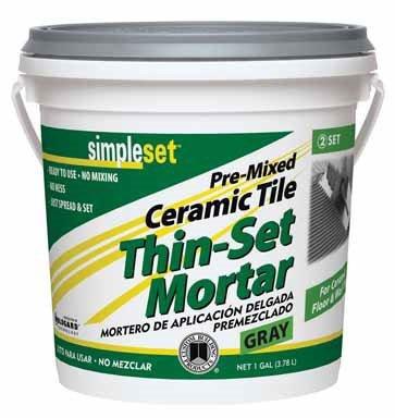 Simpleset Pre Mixed Ceramic Thin Set Mortar
