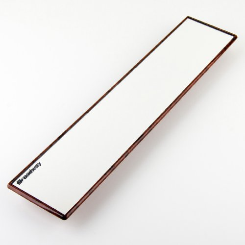 Broadway Wide Rear View Mirror With Wood Grain Look Finish