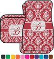 Damask Car Floor Mats Back Seat Personalized