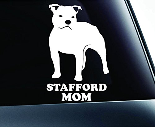 Staffordshire Bull Terrier Mom Dog Symbol Decal Paw Print