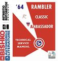 1964 Amc Ambassador Classic Shop Service Repair Manual Cd Engine Wiring Oem