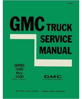 1971 Gmc 1500-3500 Truck Shop Service Repair Manual Engine Drivetrain Electrical
