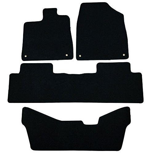 Floor Mats Fits 2014-2016 Acura Mdx 5 Pcs Black Nylon