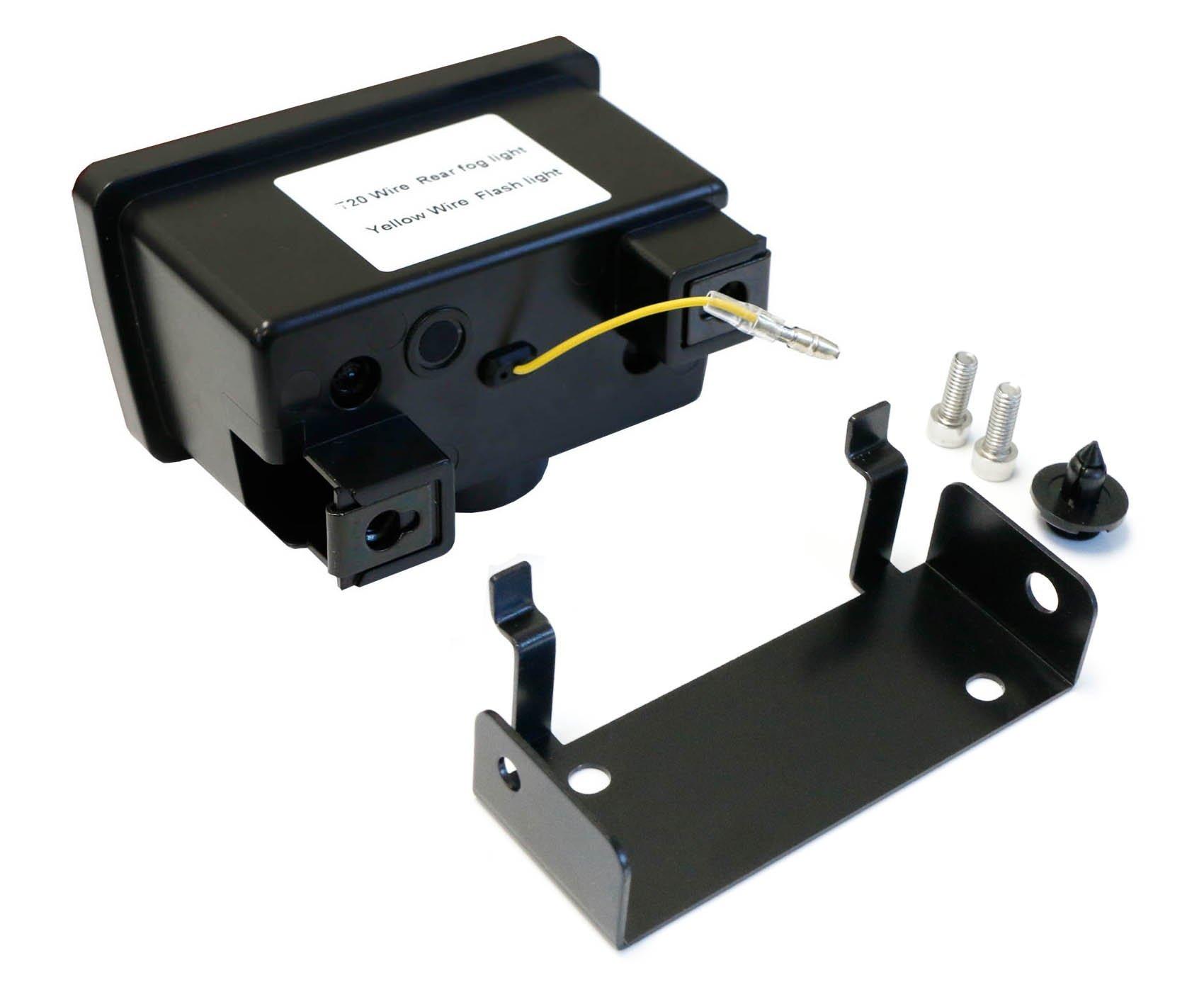 Ijdmtoy Dark Smoked Lens F1 Style Led Rear Fog Light Kit