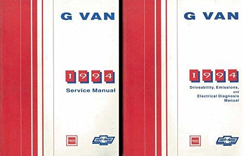 1994 Chevy G Van Shop Service Repair Manual Engine Drivetrain Electrical Oem