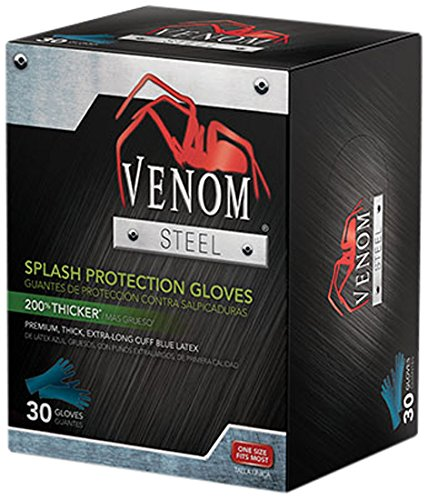 Medline Ven6025 Venom Steel Latex Gloves Splash Protection