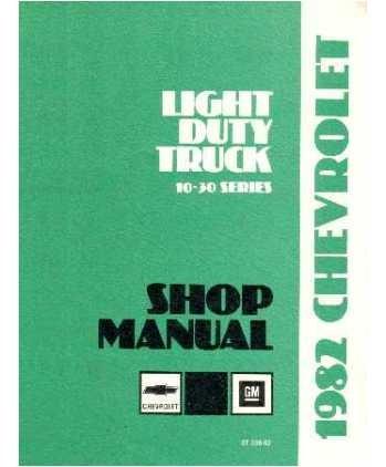 1982 Chevy Gmc C K 10-30 G P Truck Shop Service Repair Manual Engine Drivetrain