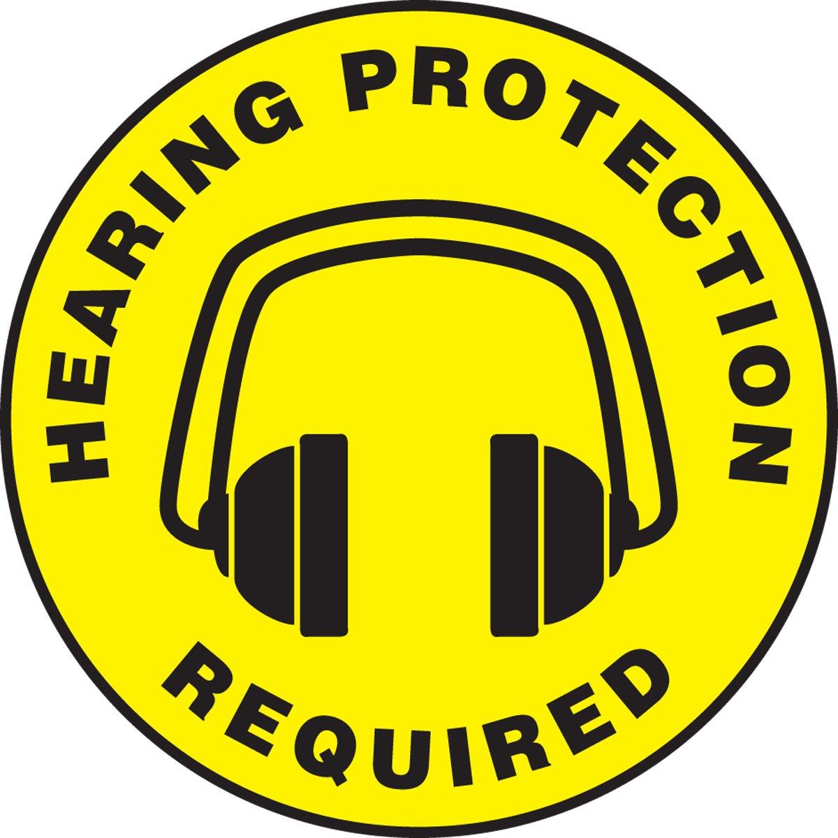 Accuform Signs Mfs1017 Slip Gard Adhesive Vinyl Round