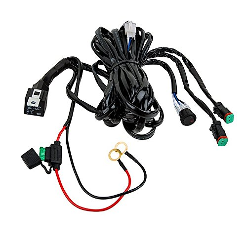 totron dual dt plug wiring harness with switch for 2 light bars up to 120 watts each by cbc