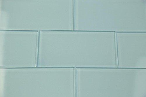 Light Astoria Blue Glass Subway Tile Popular Kitchen