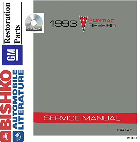 1993 Pontiac Firebird Shop Service Repair Manual Cd Engine Drivetrain Electrical