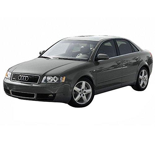 Floor Mats Fits 2002-2004 Audi A4 Black Nylon Front Rear