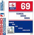 1969 Amc Javelin Rebel Ambassador Shop Service Repair Manual Cd Engine
