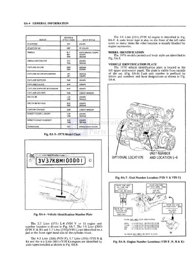 1978 Oldsmobile Chassis Electrical Service Repair Manual
