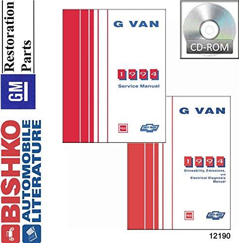 1994 Chevy G Van Shop Service Repair Manual Cd Engine Drivetrain Oem