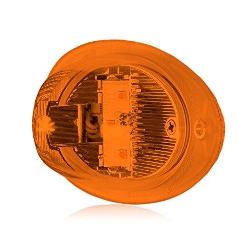 Maxxima M90081Y 17 LED Amber 7 Round Park//Turn Bus Light