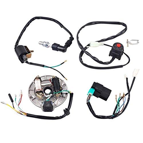 zxtdr wire harness cdi ignition coil spark plug kill switch magneto stator plate flywheel