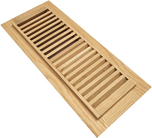 Homewell White Oak Wood Floor Register Vent Drop in 4 Inch ...