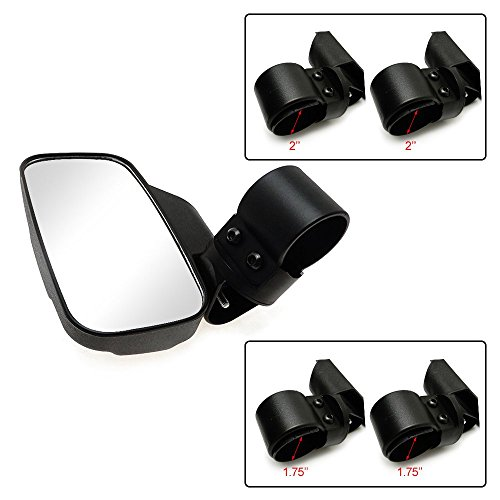 Set Of 2 Utv Side View Mirror For 1 5 Roll Cage Tempered