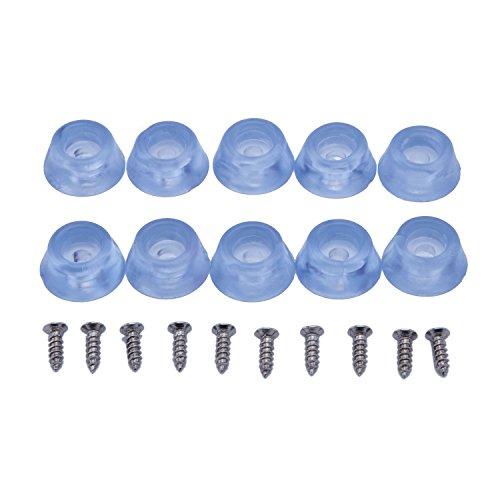 20 Pcs Transparent Plastic Round Furniture Padsnon Skid