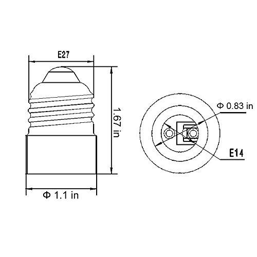 Hiqled Ul Listed E26 E27 To E14 Adapter Medium Screw E26