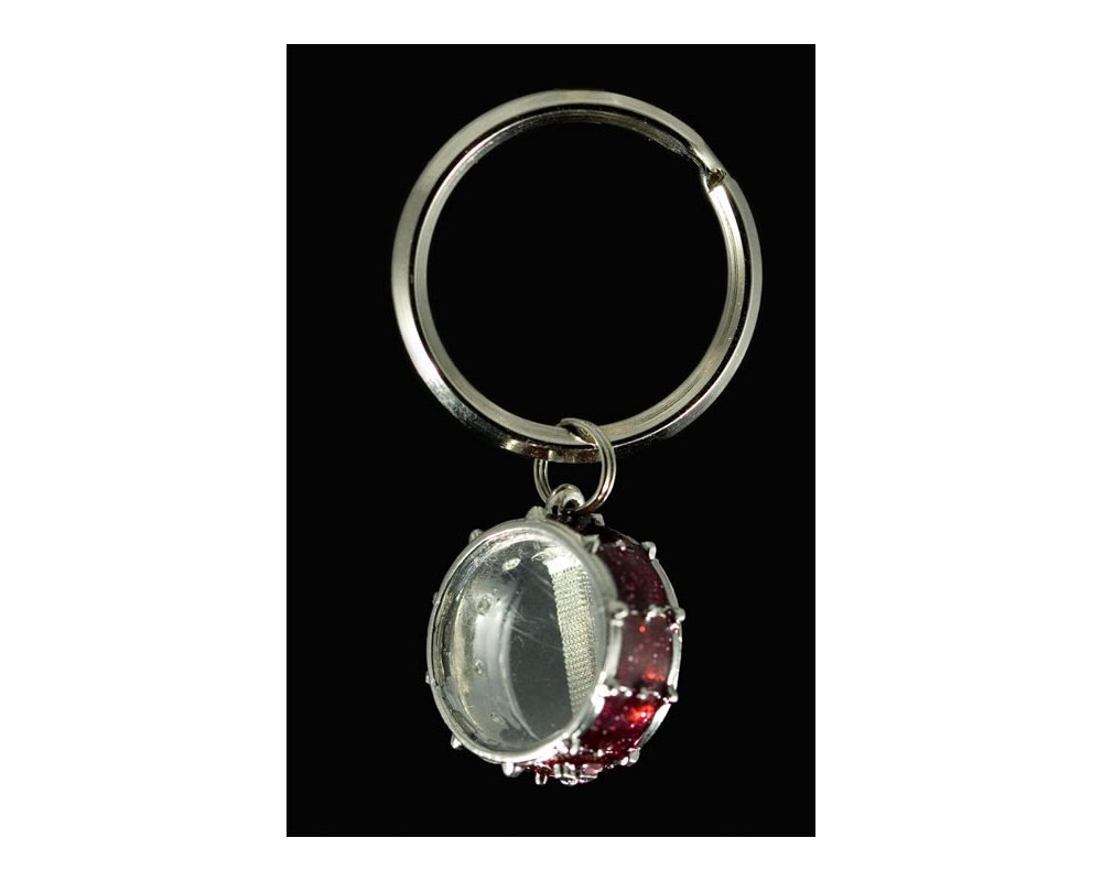 snare drum key chain red. Black Bedroom Furniture Sets. Home Design Ideas