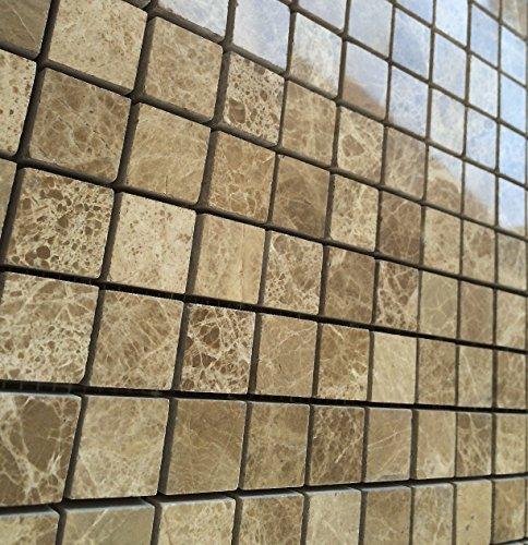 2 X 4 Brick Pattern Light Emperador Marble Polished