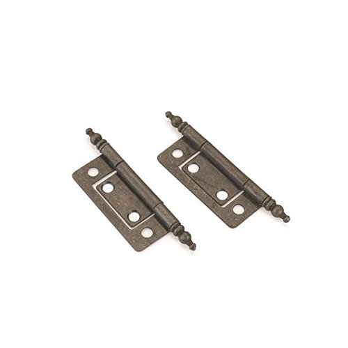7 8 X 2 Non Mortise Cabinet Hinges With Finials Silver Pair