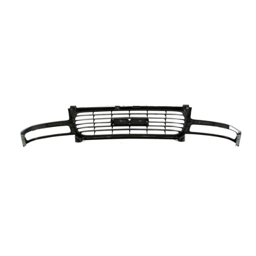 carpartsdepot  front grill grille gray outer frame black