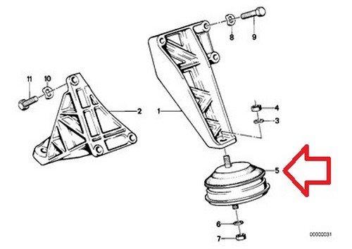 2 X Bmw Oem Engine Suspension Damper Rubber Mount Left