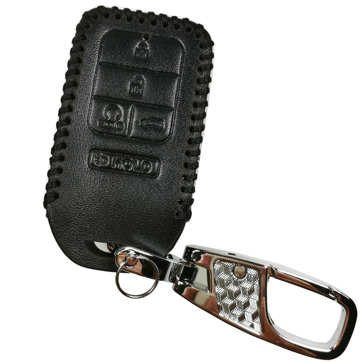 Alegender Hand Sew Leather Key Fob Cover Case Protector