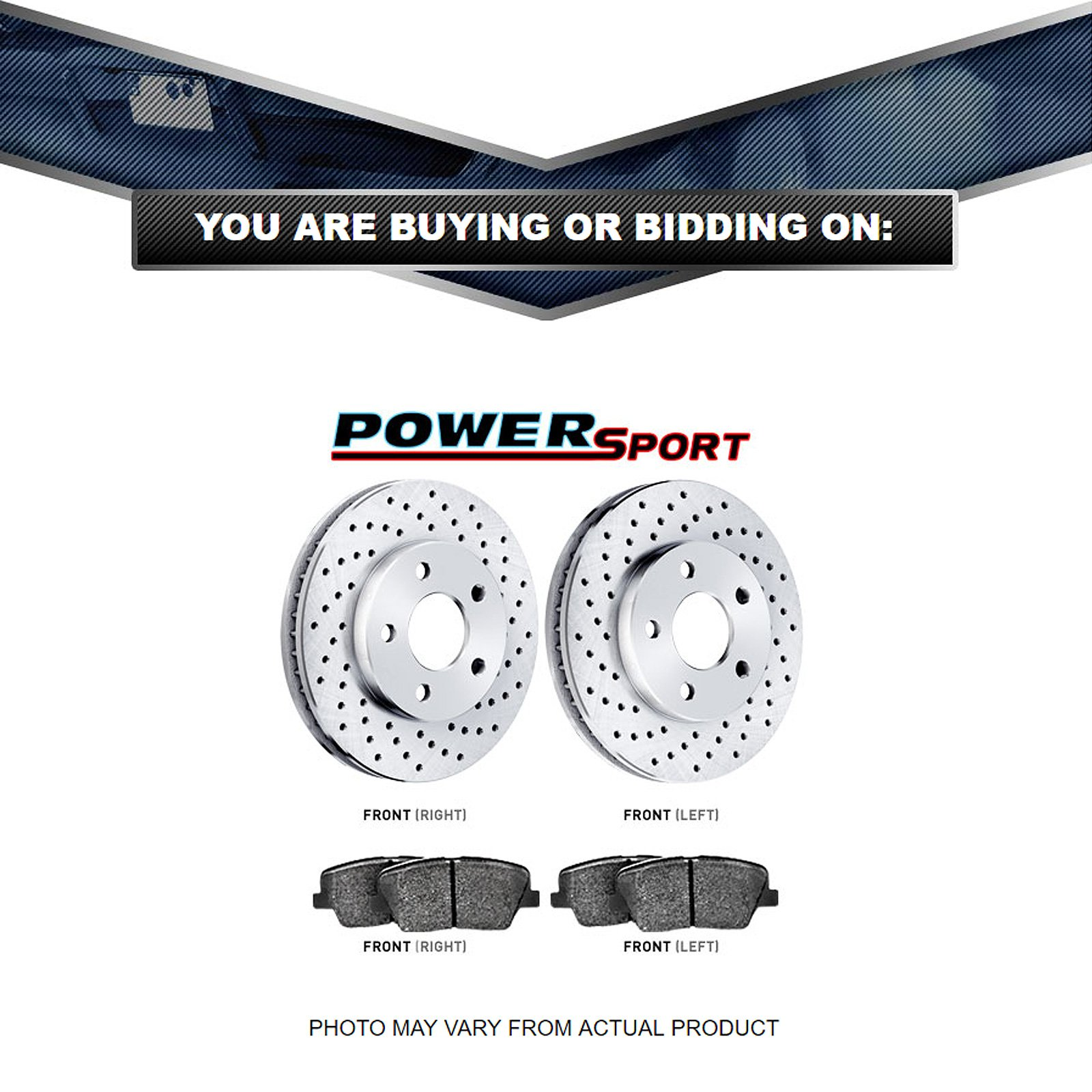 Supercharged Electric Az: Front PowerSport Drilled Brake Rotors And Ceramic Pads