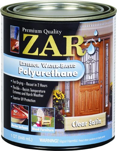 Zar 32712 exterior water based polyurethane satin for Zar exterior water based polyurethane