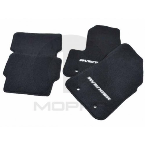 Mopar 82207050ab Dark Slate Nylon Carpet Floor Mat Rear